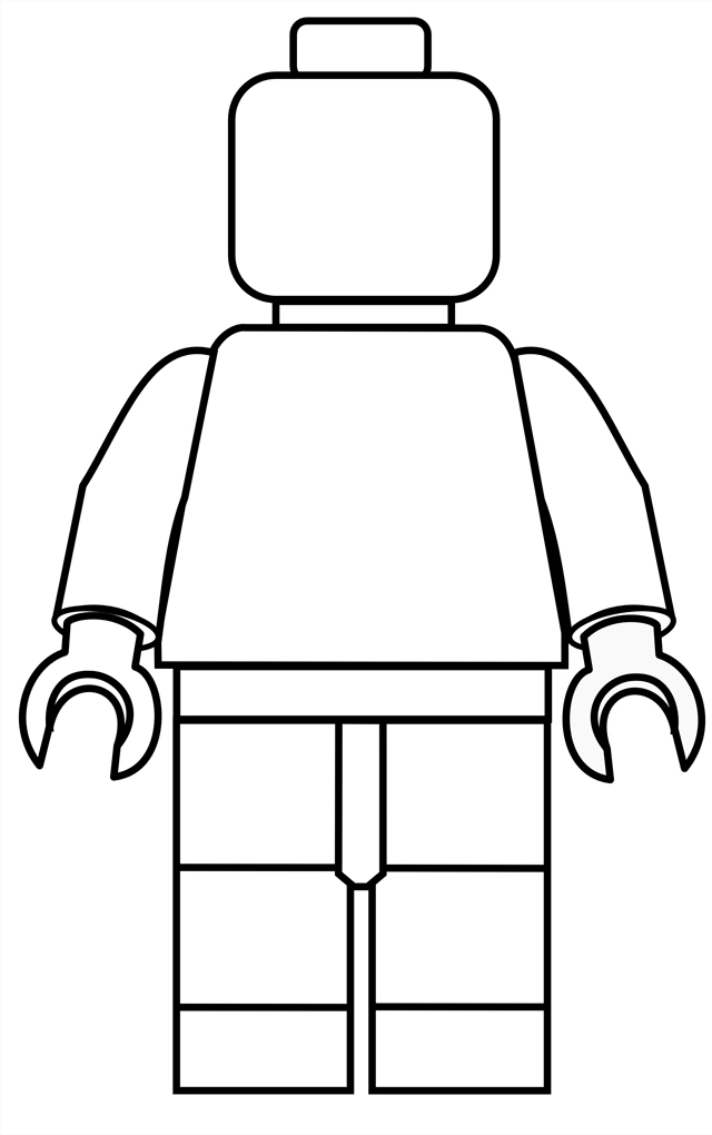Satisfactory image in lego man printable