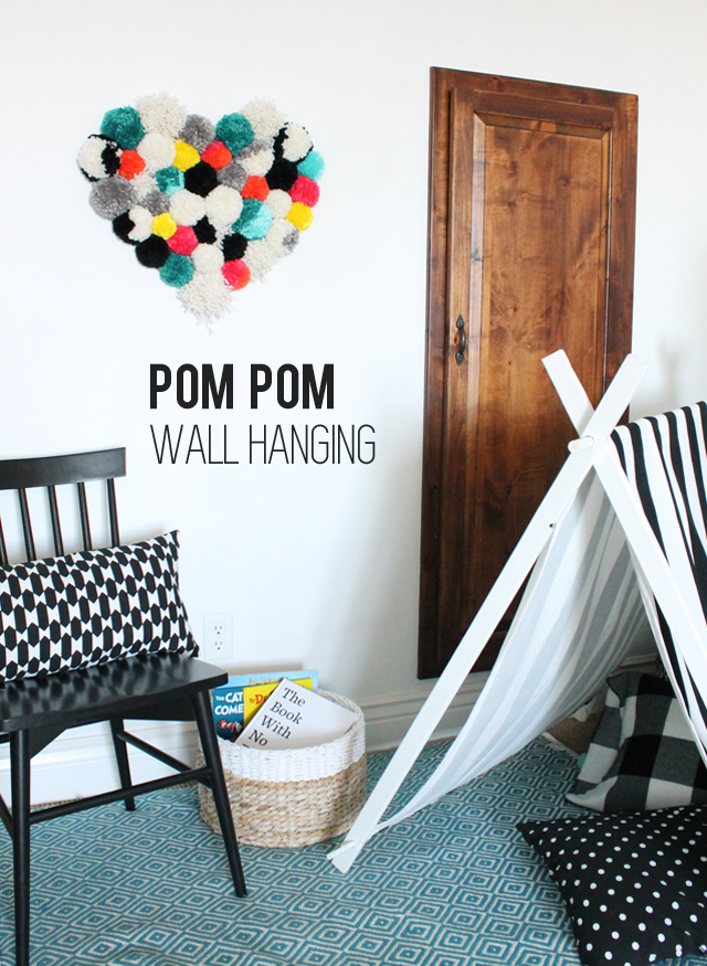 Pom Pom Wall Hanging diy pom pom wall hanging - my sister's suitcase - packed with
