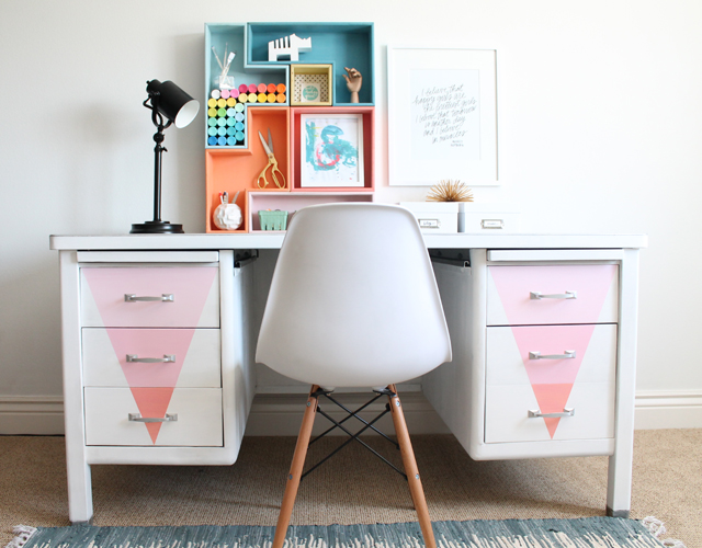 chalk paint desk redo