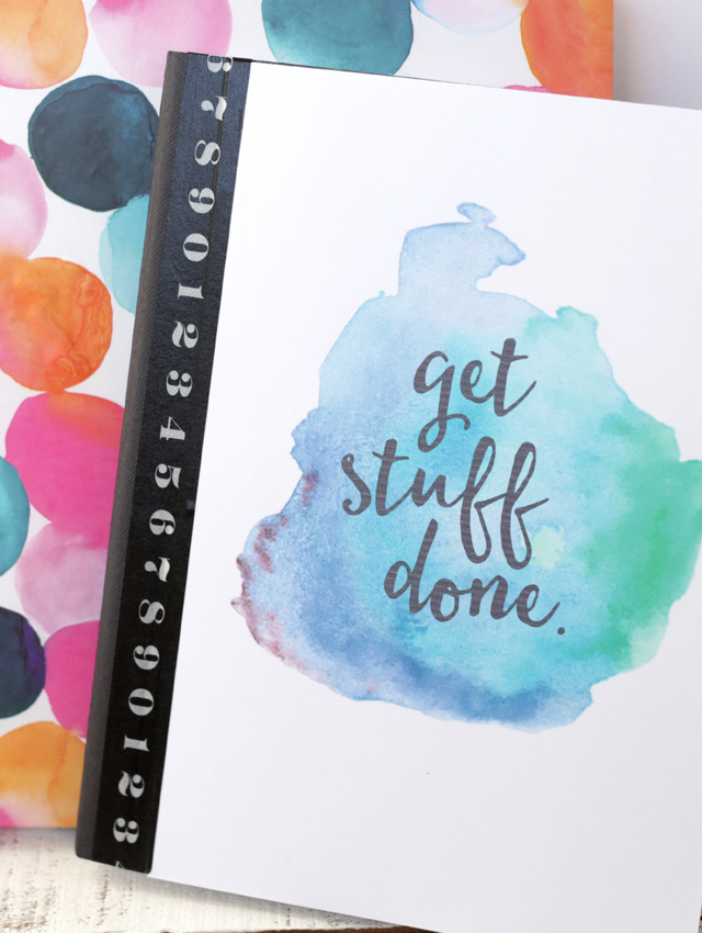 Free Printable Watercolor Notebook CoversEighteen25