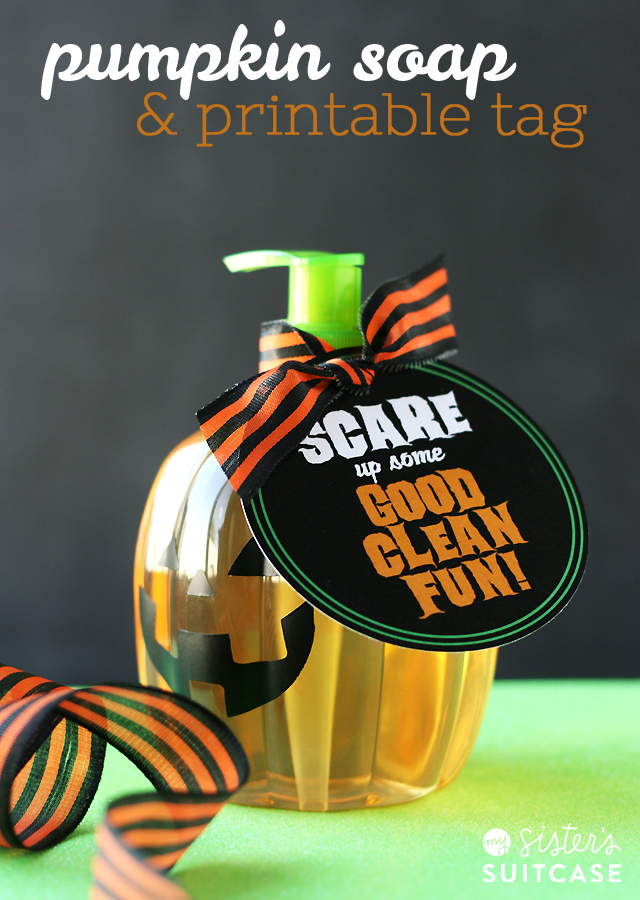 Pumpkin Soap Gift + Printable Tag - My Sister's Suitcase