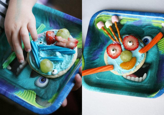 Monsters University Party and Build-A-Monster Snack