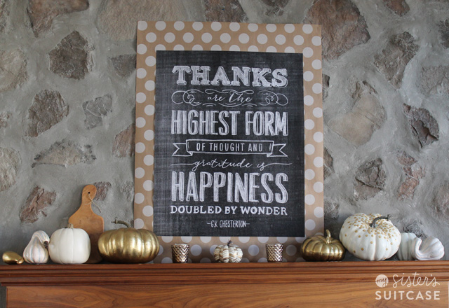 DIY Patterned Pumpkins & Thanksgiving Mantel