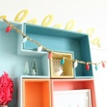 Bright colored Christmas decor