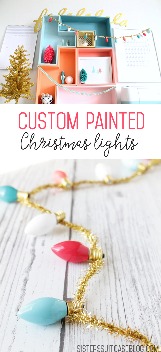 Custom painted Christmas lights