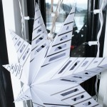Paper star hanging with Window Hook