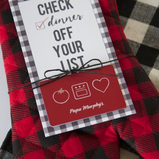 Buffalo Check Gift Card Tag