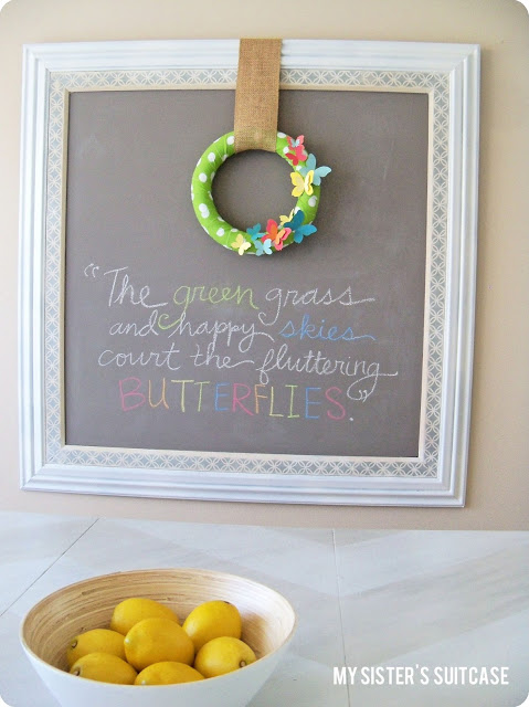 Butterfly {Paint Chip} Wreath