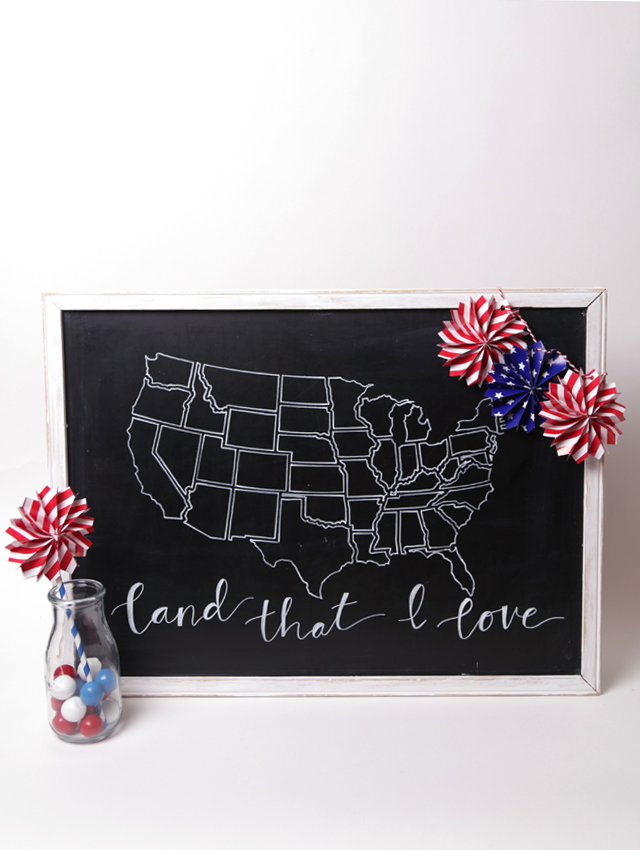 Chalkboard Usa Map Frame My Sister S Suitcase Packed With Creativity