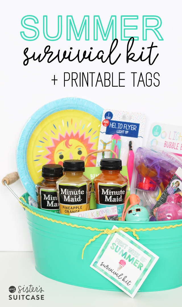 Create a Summer Survival Kit for all your mom friends who could use a break!