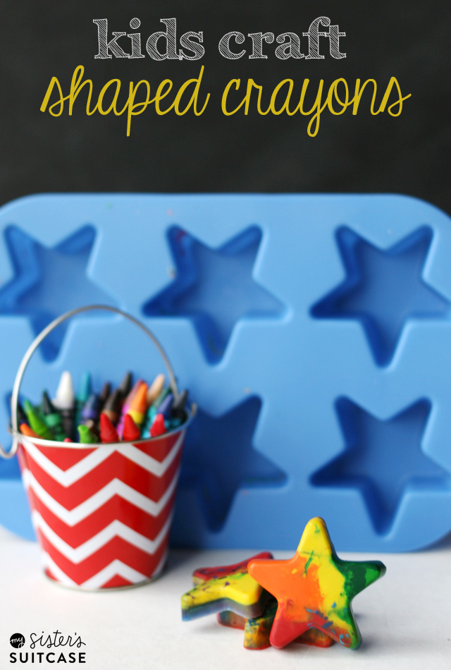 Kids Craft : Make Your Own Shaped Crayons