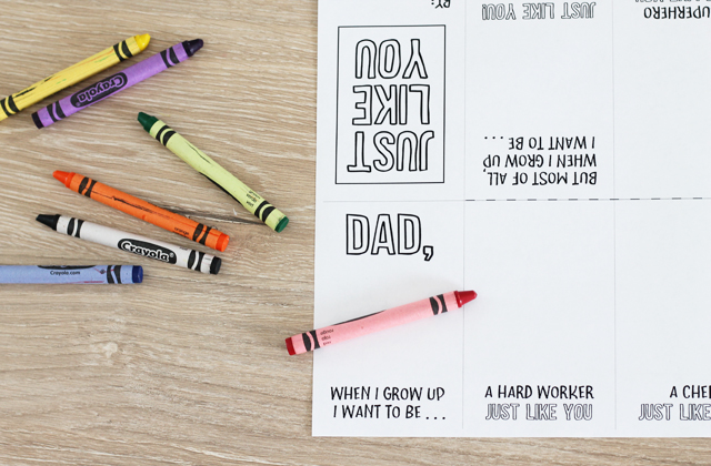 printable book for Fathers Day