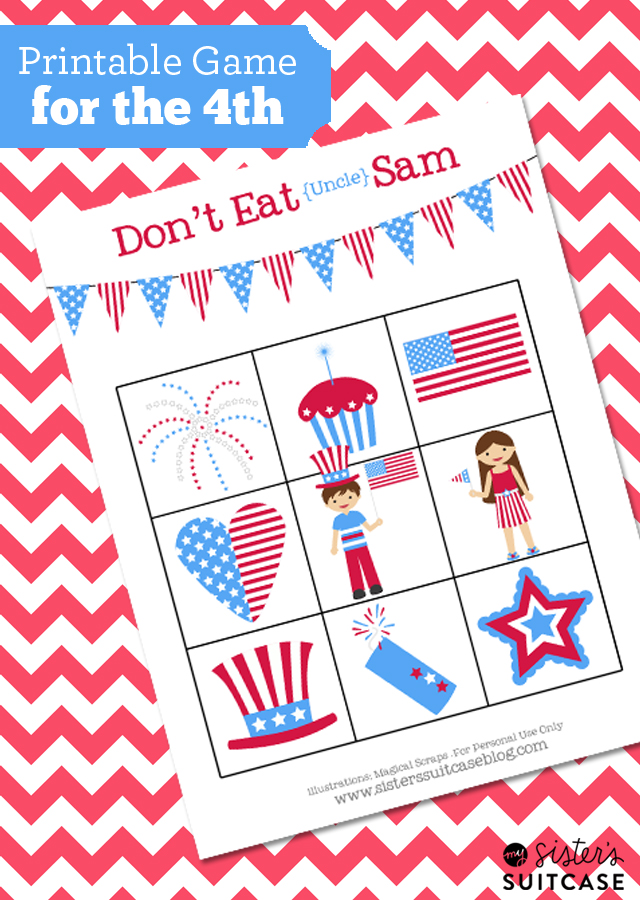 graphic relating to Don't Eat Pete Printable identified as 4th of July Little ones Recreation \