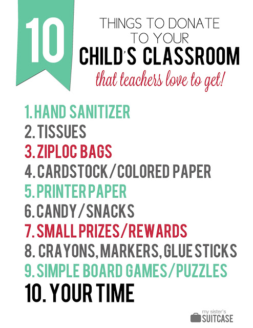 10 School Supplies to Give Your Child's Teacher