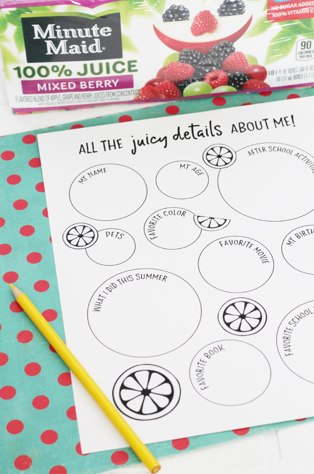 About Me printable for students and teachers