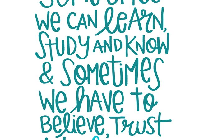 Believe Trust and Hope printable