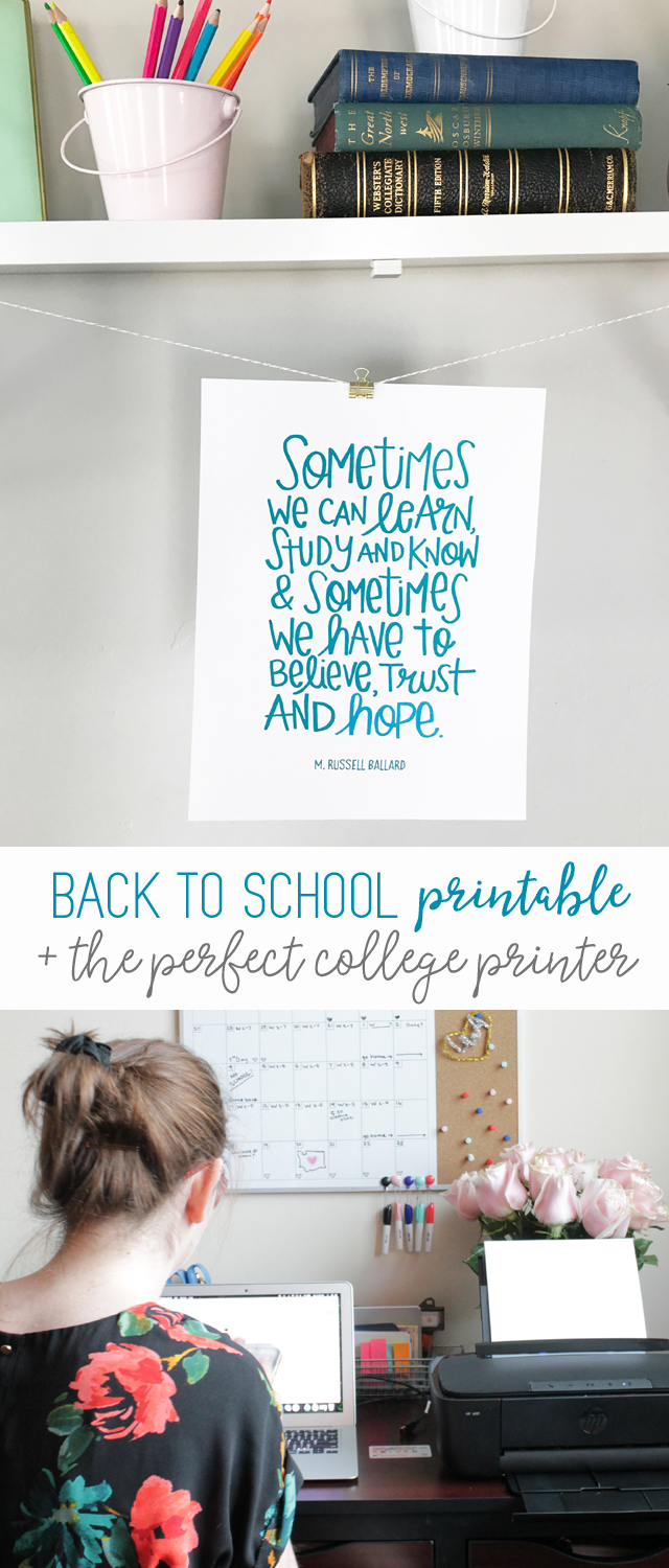 College Dorm Printable