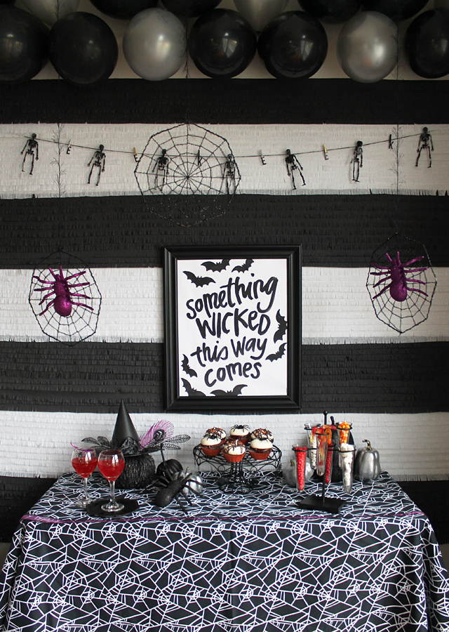 Black and White Halloween Party Decor