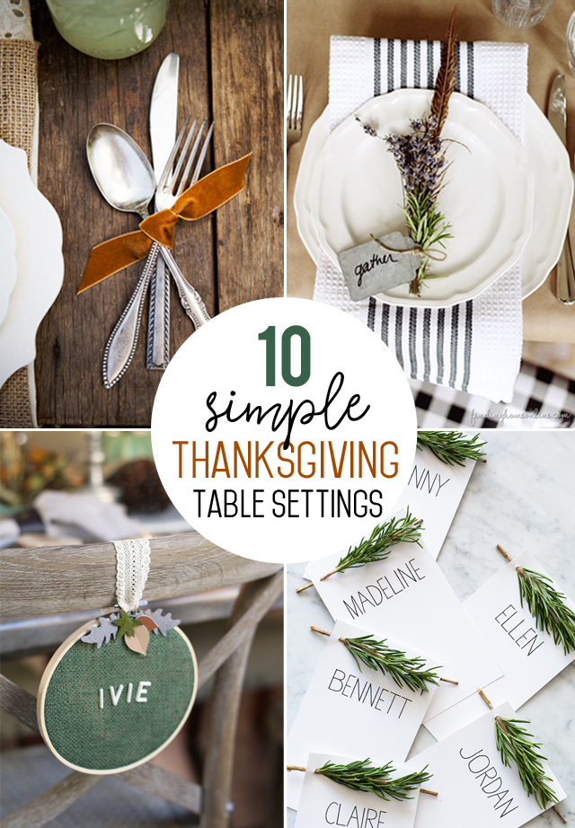 Simple Thanksgiving Table Settings & Simple Thanksgiving Table Setting Ideas - My Sister\u0027s Suitcase