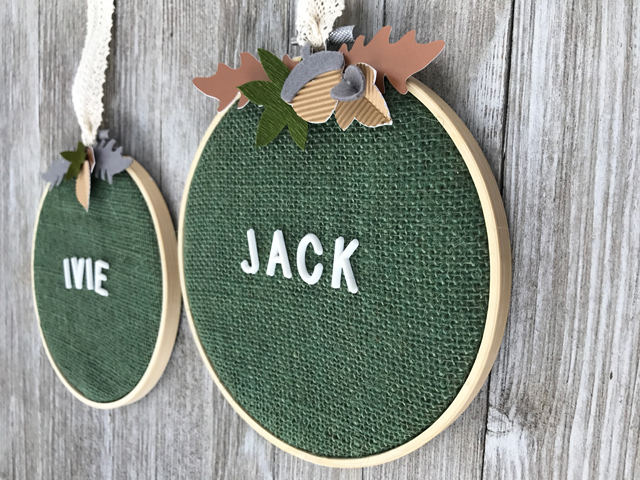 Customized name embroidery hoops