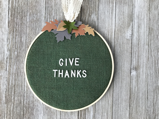 Give Thanks embroidery hoop