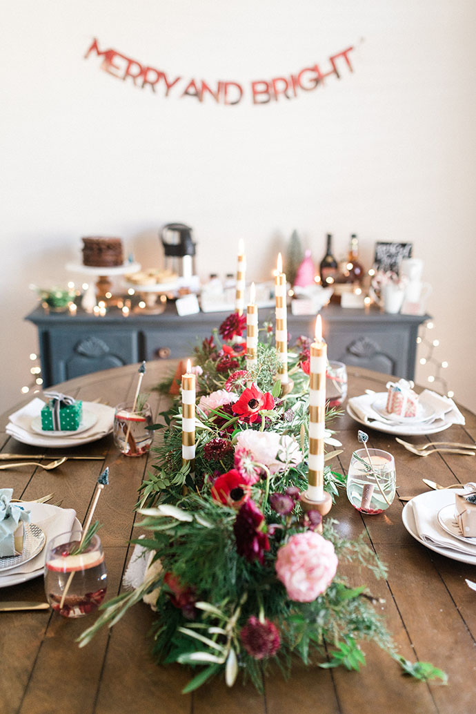 Colorful Christmas Brunch table