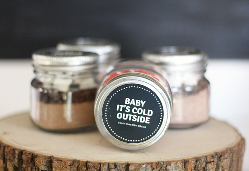 Hot chocolate to go jars