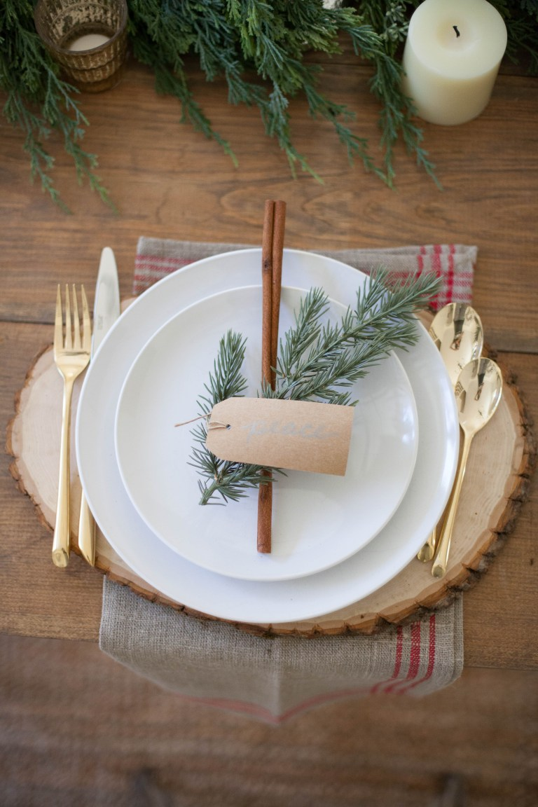 cinnamon sprig table setting