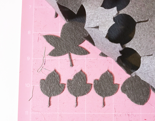 cutting felt with the Cricut Maker
