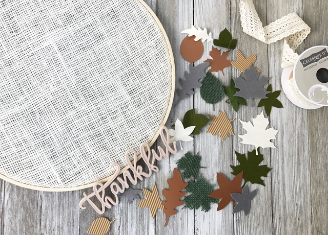 materials for thankful hoop