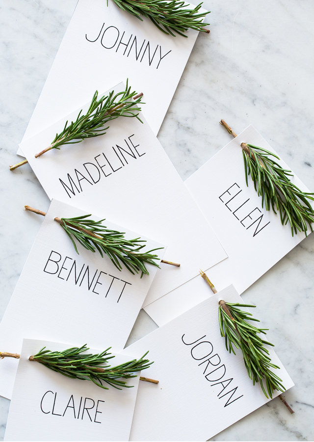rosemary place-cards-diy