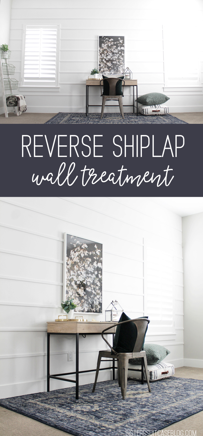 Reverse Shiplap Wall Treatment