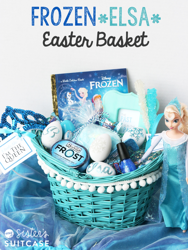 Frozen elsa easter basket my sisters suitcase packed with time to start thinking easter baskets today im sharing the second half of our little frozen inspired easter basket posts and mines all things elsa negle Image collections