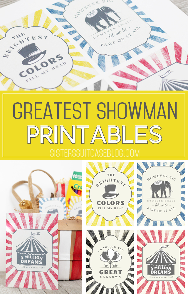 Greatest Showman Printables