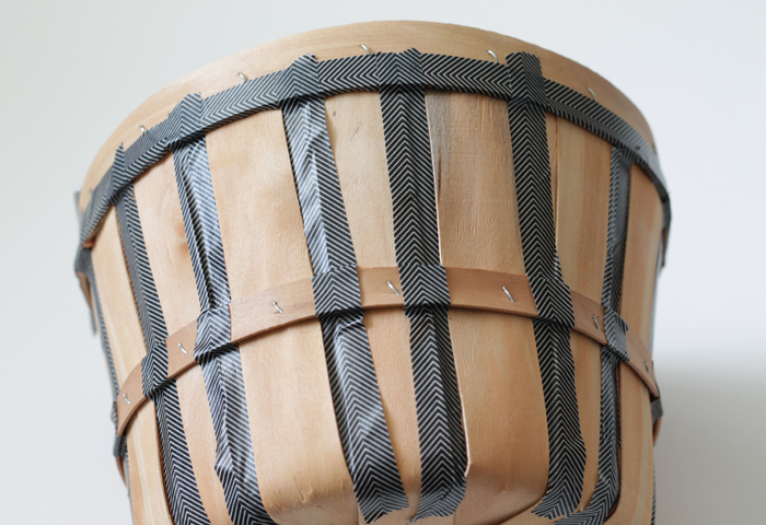 taping stripes off on the basket