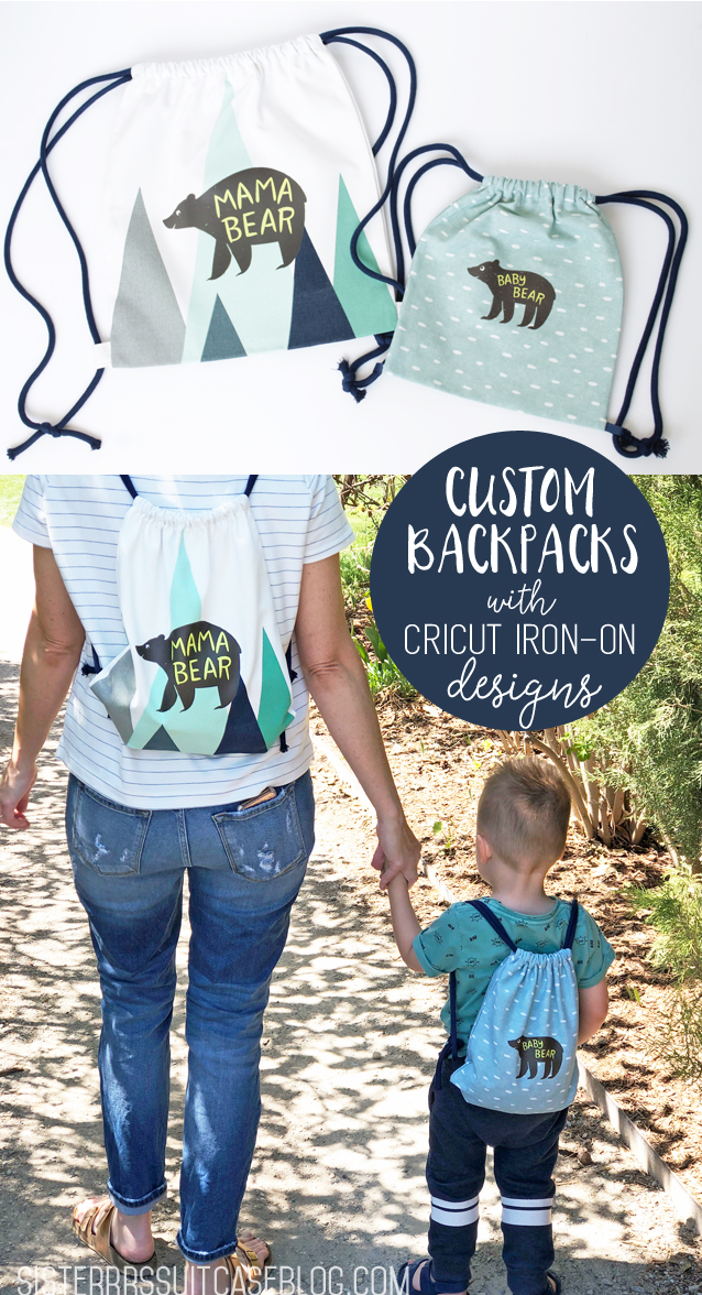 Custom Drawstring backpacks with Iron-on designs