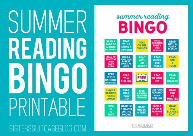 Summer Reading Bingo for Kids
