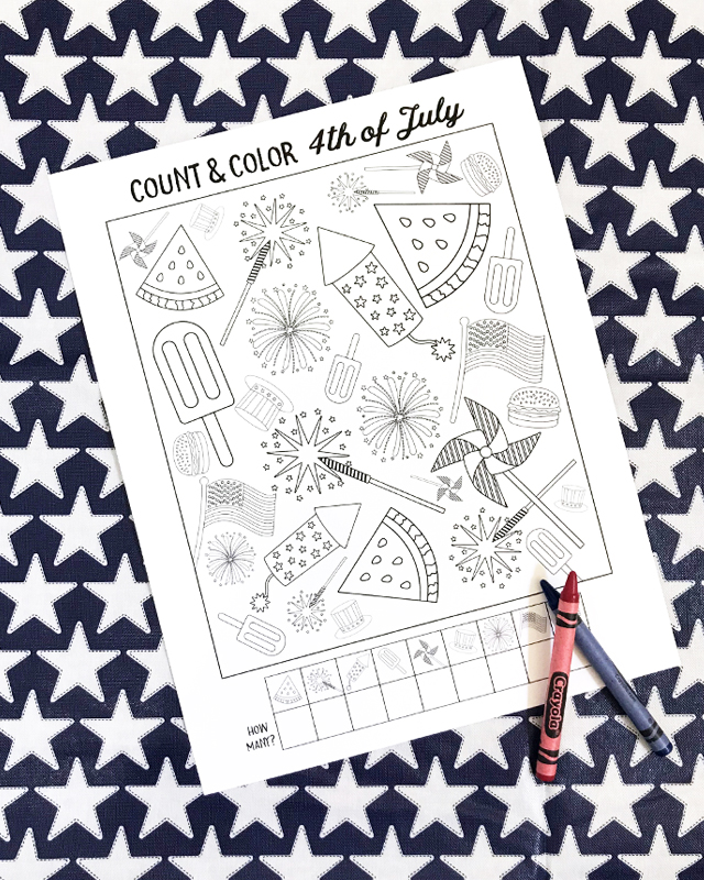 4th Of July Kids Coloring Page My Sister S Suitcase