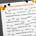 Mad Libs for Halloween