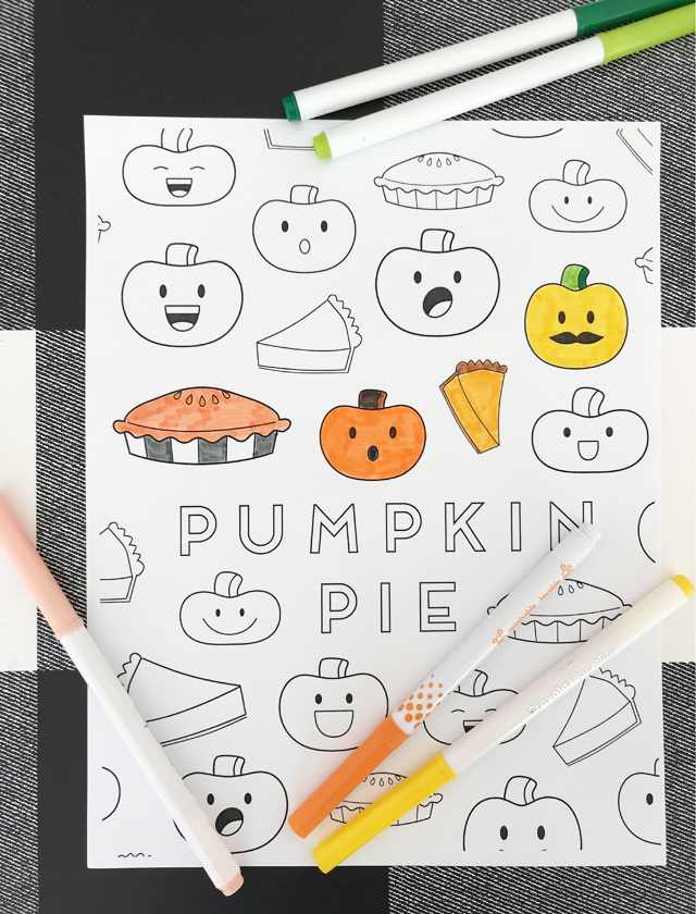 Coloring pumpkin printable