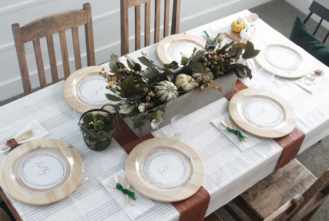 Elegant Disposable Tablescape for Thanksgiving