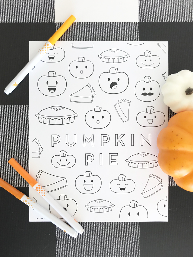 Thanksgiving Kids Coloring Page Activity