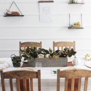 Elegant Thanksgiving Tablescape (without using real dishes!)