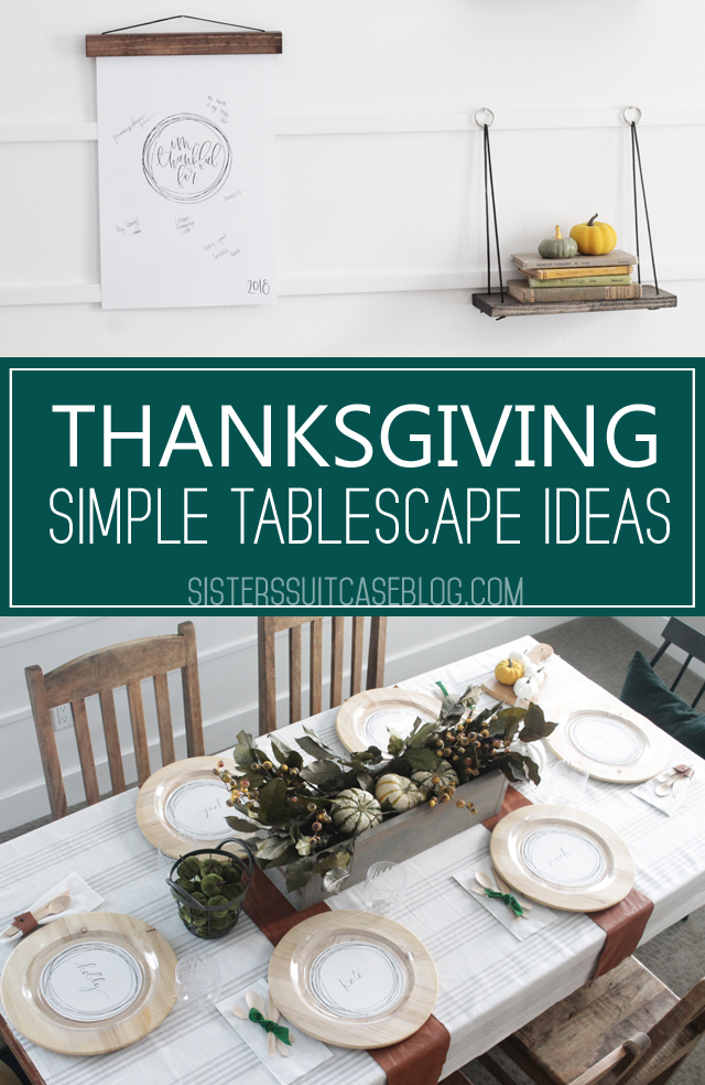 Thanksgiving simple tablescape ideas