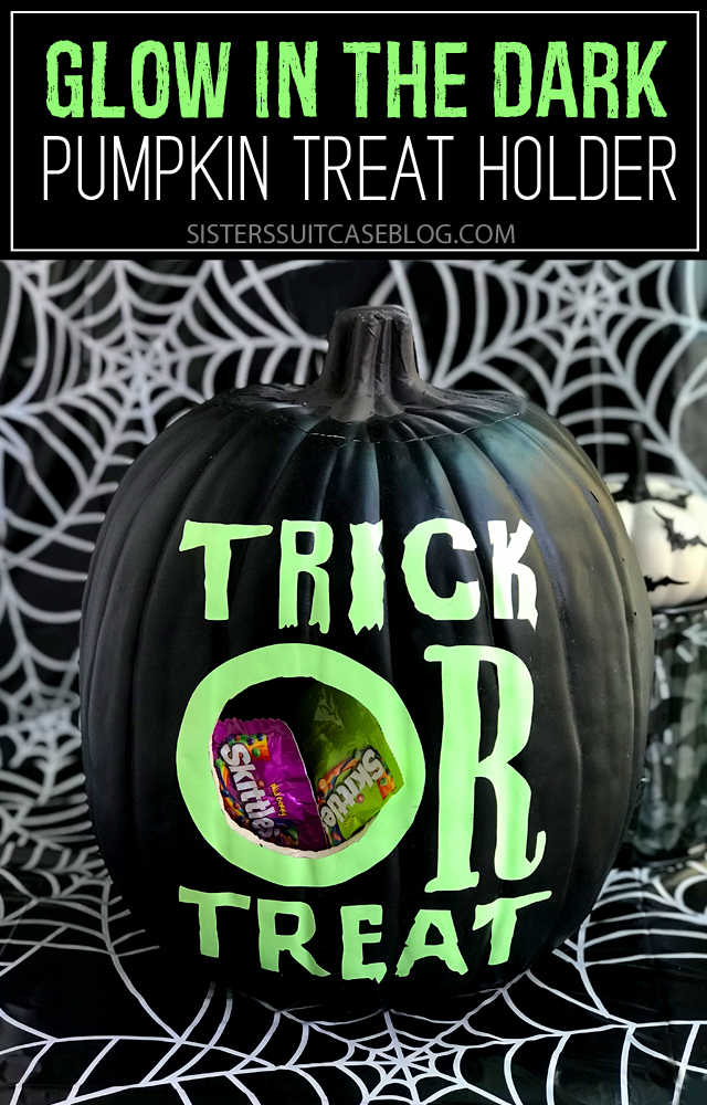 Trick or Treat glow in the dark pumpkin