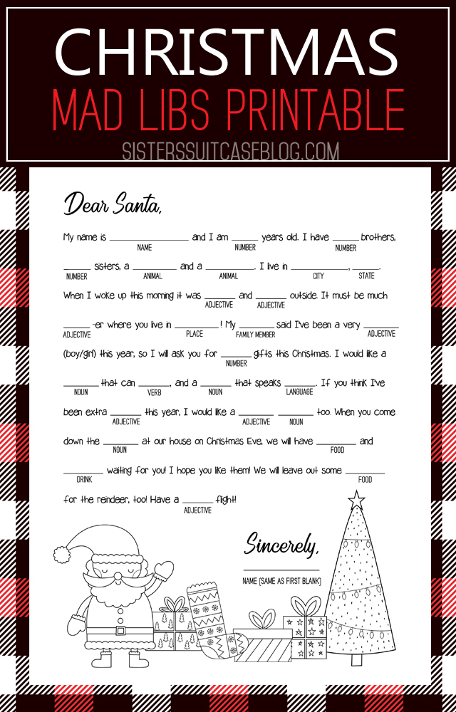 photo regarding Thanksgiving Mad Libs Printable named Thanksgiving Crazy Libs Printable - My Sisters Suitcase