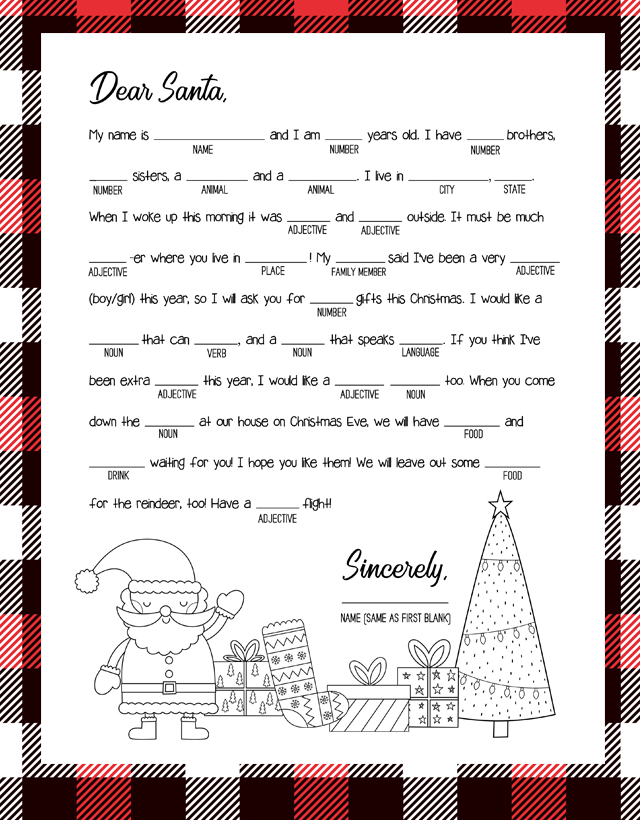 christmas mad libs is a fun and creative free printable game thats perfect for kids and adults to enjoy create your own silly dear santa letter as your