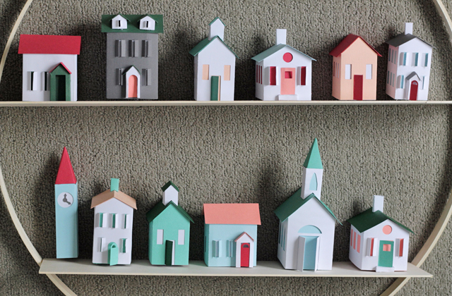 Layout your houses and arrange on shelves