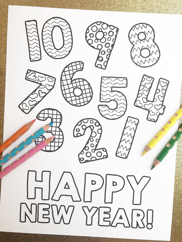 New Year\'s Eve Coloring Page Countdown - My Sister\'s Suitcase ...