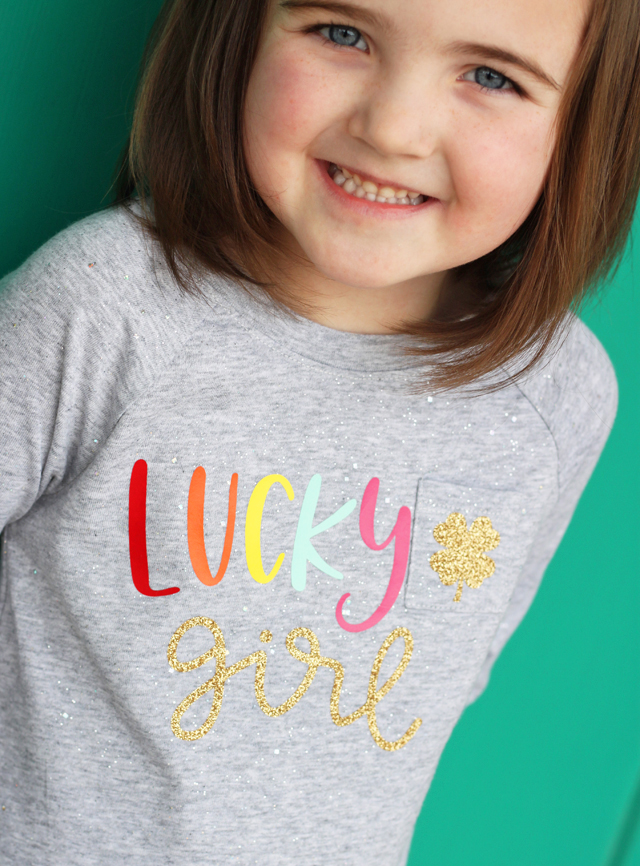 Lucky Girl shirt for St Patricks day